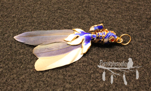 Fish Pendant with Macaw Feathers*
